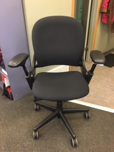 Office chair with black handles